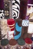 Couvertures et tapis colorés Photographie stock libre de droits