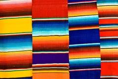 Couvertures mexicaines colorées Photo libre de droits