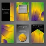 Couvertures minimales de vecteur réglées Future conception à la mode géométrique de gradient illustration de vecteur
