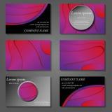 Couvertures minimales de vecteur réglées Future conception à la mode géométrique de gradient illustration stock