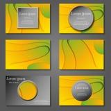 Couvertures minimales de vecteur réglées Future conception à la mode géométrique de gradient illustration libre de droits