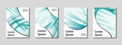 Couvertures minimales de vecteur réglées Future ligne géométrique illustration stock