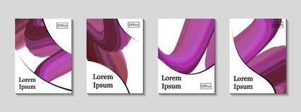 Couvertures minimales de vecteur réglées Future ligne géométrique illustration de vecteur