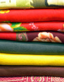 Couvertures tissées birmannes Photo libre de droits
