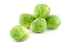 Couves de Bruxelas verdes Fotografia de Stock Royalty Free