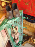 couvre-chaussure et chaussures image stock