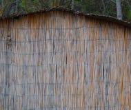 Couvre de chaume la texture de mur de canne image libre de droits