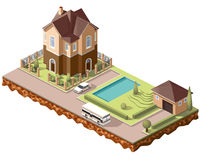 Couvre de tuiles cottage5 illustration stock