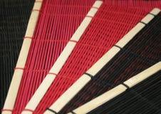 Couvre-tapis asiatiques de paille Images stock