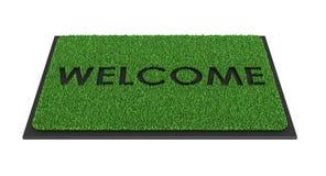 Couvre-tapis bienvenu illustration de vecteur