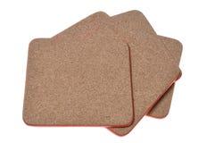 Couvre-tapis de liège avec le cadre rouge Images libres de droits