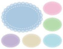 Couvre-tapis de place en pastel de napperon de lacet Image stock