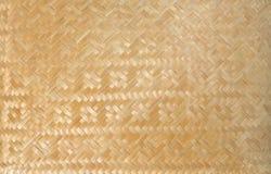 Couvre-tapis en bambou Photo stock