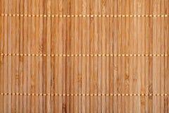 Couvre-tapis en bambou Image libre de droits