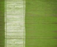 Couvre-tapis en bambou avec le bar de carte blanc grunge Images libres de droits