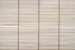 Couvre-tapis en bambou pour faire cuire des sushi Image stock