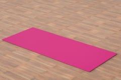 Couvre-tapis rose de yoga Photos libres de droits
