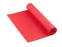 Couvre-tapis rouge de yoga Photographie stock libre de droits