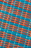 Couvre-tapis rouge et bleu Photos libres de droits