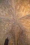 Couvrez à l'intérieur du bâtiment de temple dans l'Acropole d'Ialysos en île de Rhodes de la Grèce image libre de droits