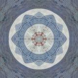 Couvrez de tuiles l'arabesque dans le style russe et arabe dans le bleu en pastel illustration de vecteur