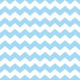 Couvrez de tuiles le modèle de vecteur de chevron avec le fond bleu et blanc en pastel de zigzag Images stock