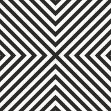 Couvrez de tuiles le modèle noir et blanc de tuile de vecteur ou le fond géométrique Photographie stock