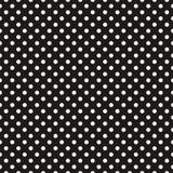 Couvrez de tuiles le modèle foncé de vecteur avec les points de polka blancs sur le fond noir Image stock
