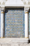 Couvrez de tuiles le mur dans le harem du palais de Topkapi, Istanbul Photo libre de droits
