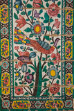 Couvrez de tuiles le panneau, khan medrese, Chiraz, Iran Photo libre de droits