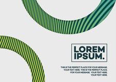 Couvrez le calibre de conception de gradient de couleur verte de lignes et de formes Photographie stock libre de droits
