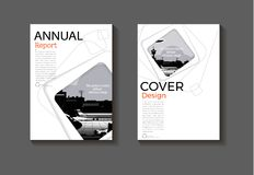 Couvrez le layou de fond de cercle de conception moderne de livre de couverture de brochure de calibre de couverture moderne abst illustration de vecteur