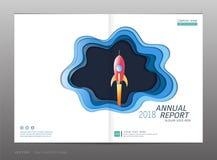 Couvrez le rapport annuel de conception, la direction et le concept de démarrage Photo libre de droits