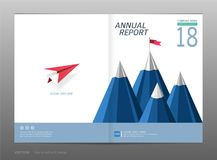 Couvrez le rapport annuel de conception, la direction et le concept de démarrage Image libre de droits