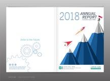 Couvrez le rapport annuel de conception, la direction et le concept de démarrage, utilisation pour votre conception tout le media Photographie stock libre de droits