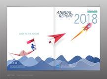 Couvrez le rapport annuel de conception, la direction et le concept de démarrage, utilisation pour votre conception tout le media Image stock