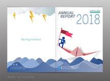 Couvrez le rapport annuel de conception, la direction et le concept de démarrage, utilisation pour votre conception tout le media Photo stock