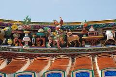 Couvrez les sculptures du temple chinois de Cheng Hoon Teng au Malacca CIT photo stock