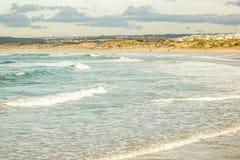 Cova da Alfarroba海滩, Baleal, Peniche,葡萄牙 库存照片