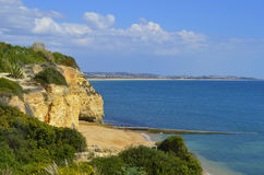 Cova Redonda Beach, Armacao De Pera, Algarve, Portugal Royalty Free Stock Images