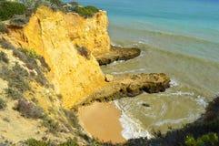 Cova Redonda Beach, Armacao De Pera, Algarve Royalty Free Stock Photos