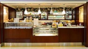 Cova takeaway coffee bar counter Stock Photo