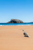 Covachos island in Lencres, Cantabria, Spain Royalty Free Stock Photo