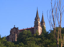 Covadonga. Church,Covadonga,Asturias,Spain royalty free stock image