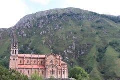 Covadonga Basilica Royaltyfria Bilder
