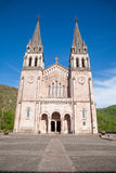 Covadonga Basilica Facade Arkivfoto