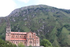 Covadonga basilica Royalty Free Stock Images