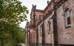 Covadonga Basilica Side Stock Photo