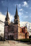 Covadonga church Royalty Free Stock Image