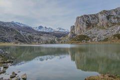 Covadonga jeziora Obrazy Royalty Free